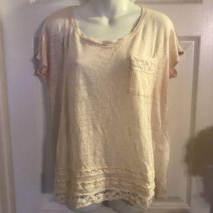 Lauren Conrad light pink loose fitting t-shirt M